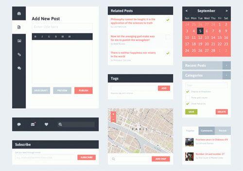 Flat Blog UI Kit