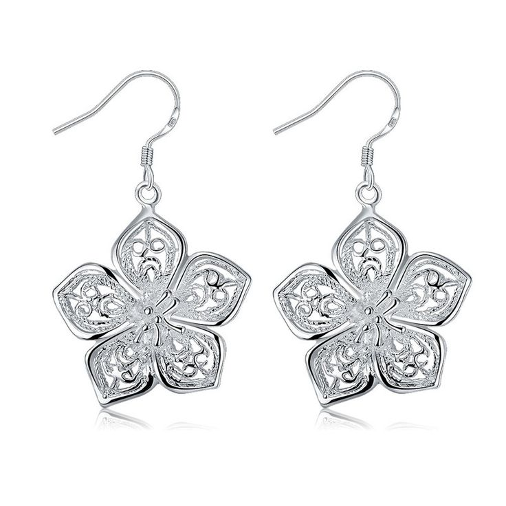 Lily Jewelry Ladies Fashion Sparkly Filigree Rose Gold Tone Water Drop Shape Drop Earrings for Women M2lMU