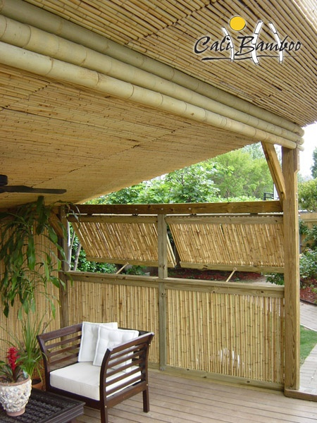 Gorgeous use of bamboo panelling on a verandah.