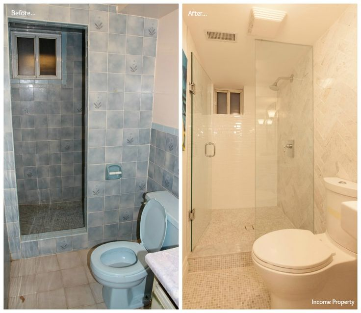 A Glass Shower Makes All The Difference In This Basement Bathroom  #IncomeProperty