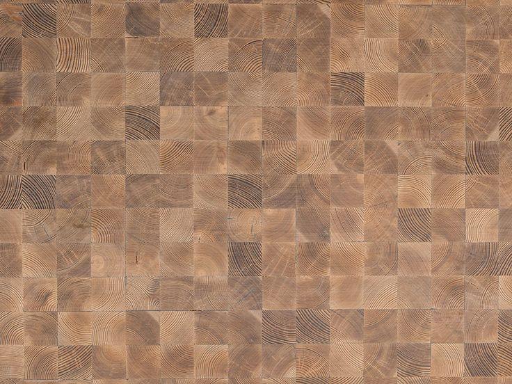 Mafi Timber   Domino Larch Brushed White Oil   Timber Flooring   Wood End Grain Blocks