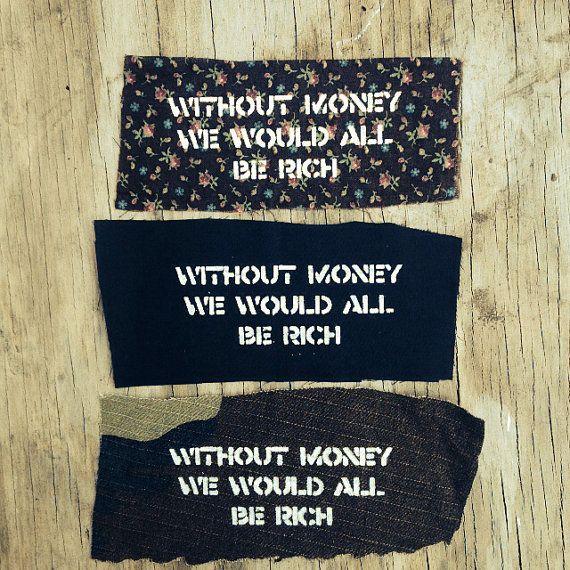 Back Patch // Punk Patch // Crass  // Anarchy // by badbrainn, $3.00