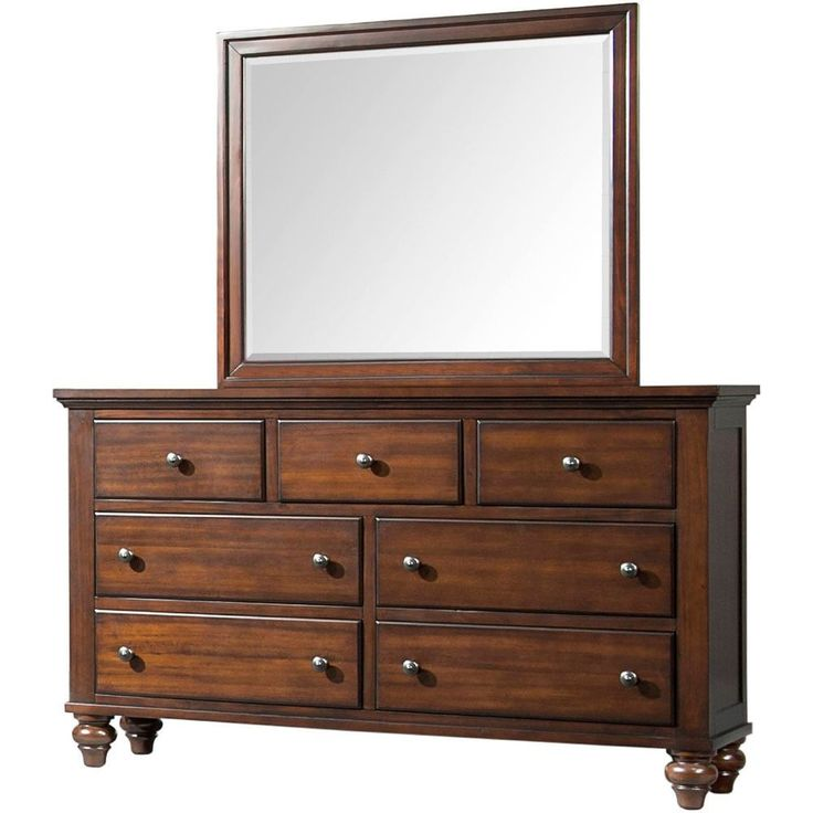 Cambridge Newport Cherry Wood Dresser (Cherry), Red, Size 7-drawer