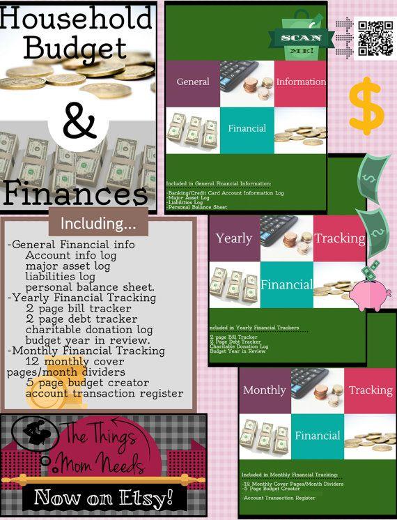 Household Budget and Finance Planner (scheduled via http://www.tailwindapp.com?utm_source=pinterest&utm_medium=twpin&utm_content=post28967214&utm_campaign=scheduler_attribution)