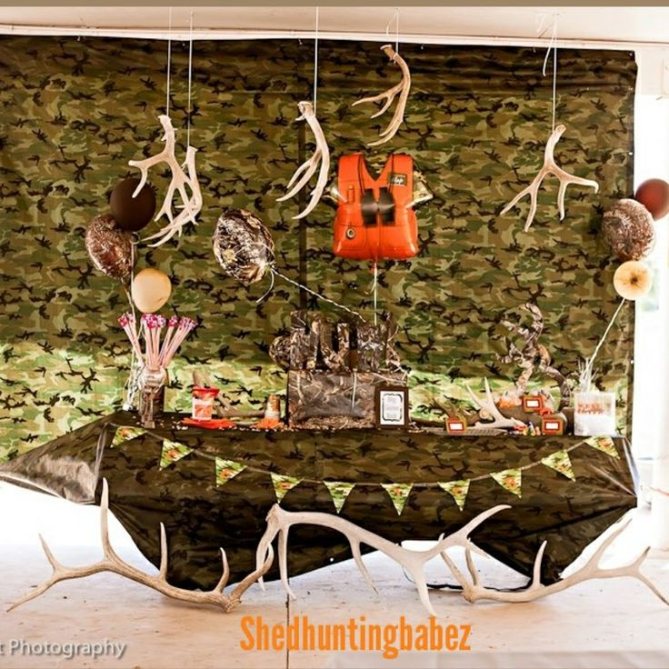 Hunting themed birthday party | camo party | kids birthday party ideas| hunting…