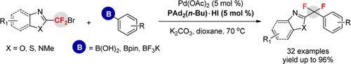 Heteroaryldifluoromethylation of Organoborons Catalyzed by Palladium: Facile Access to Aryl(Heteroaryl)difluoromethanes