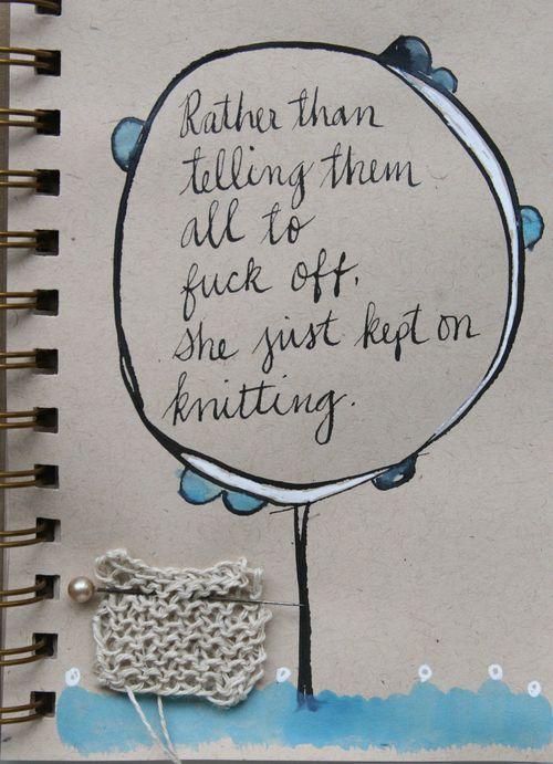 Jenny Doh  The polite alternative :: Just keep knitting