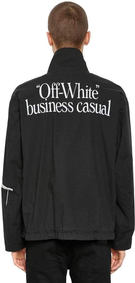 ad1c0021628d Business Casual Zip Lightweight Jacket #hem#Drawstring#Contrasting ...