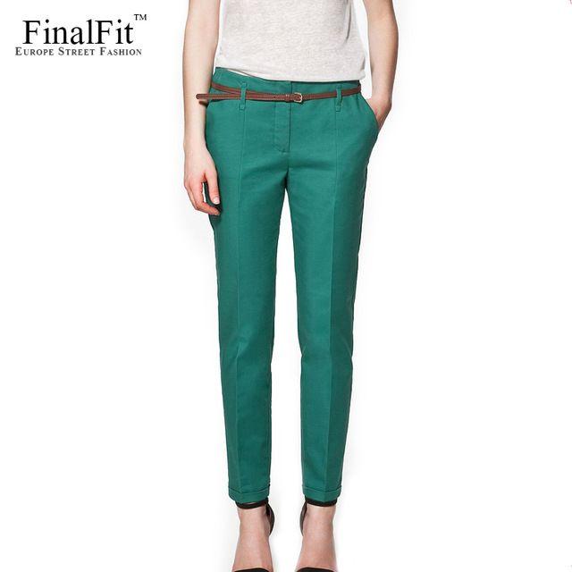 Get Promo $10.00, Buy FinalFit Pencil Casual Pants Women Spring Summer Autumn Suit Pants Trousers Women Pantalon Mujer