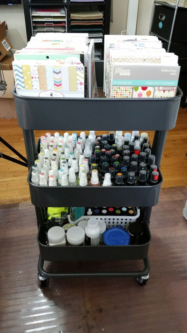 21 Ways To Use Your Raskog Cart Organize Scrapbook Supplies
