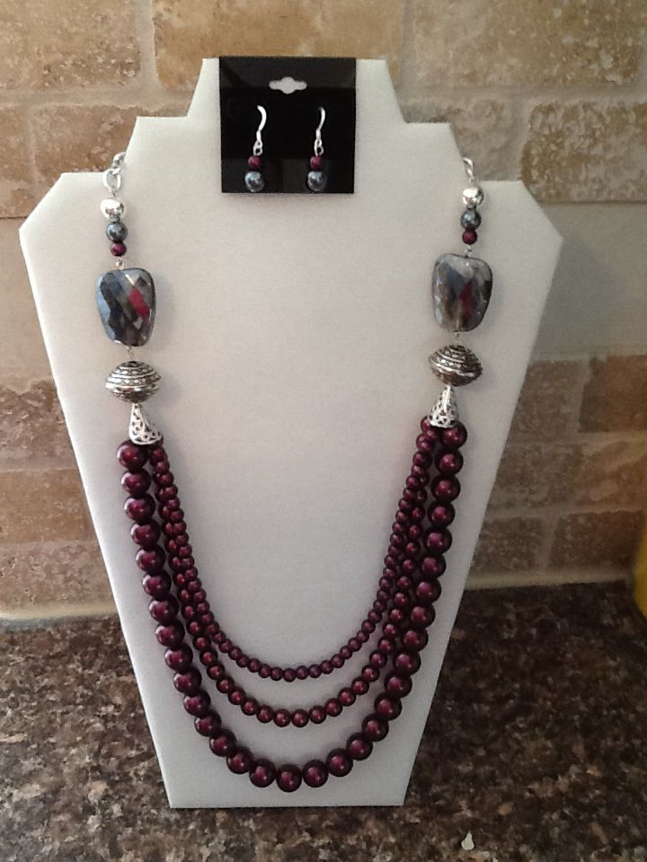 Glass Pearls #handmade #statement #necklace