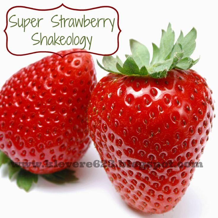 OMG - Super Strawberry Shakeology Recipe - Great recipe for the new strawberry shakeology flavor!