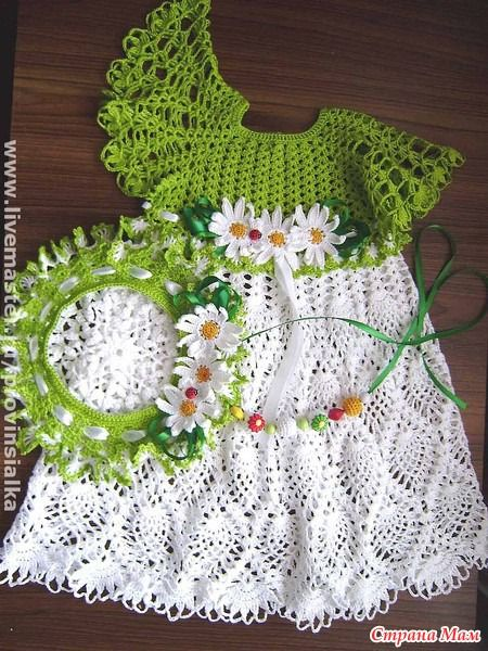 baby dress with pineapple motifs