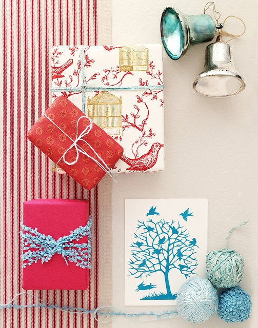 Colorful christmas gift wrap!