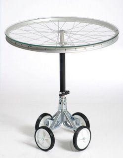 Mesa velador rueda bicicleta