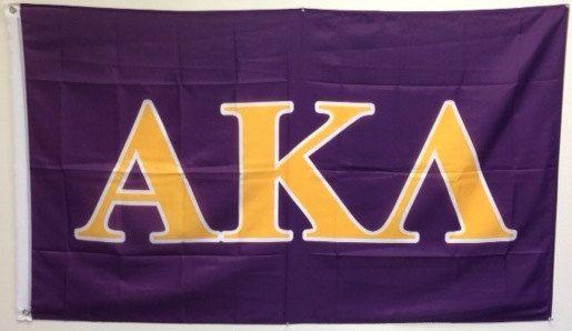 Alpha Kappa Lambda Letter Fraternity Flag by WindyCityFraternity, $21.99