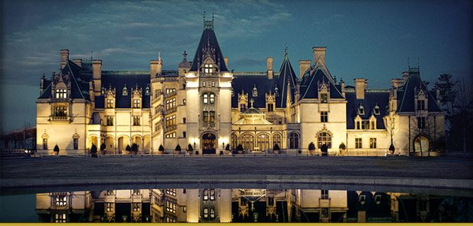 Biltmore Estate became a NC state land mark May 23,1963 and is located in Asheville. The estate was built by George Washington Vanderbilt II between 1889 and 1895. The Mansion is the largest privately owned house in the US and features over 250 rooms.