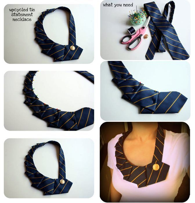 Recycle old ties...ideas for old ties