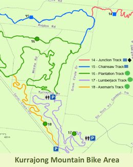 Kurrajong Trail Map - Great 7km loop family ride in the You Yangs Victoria