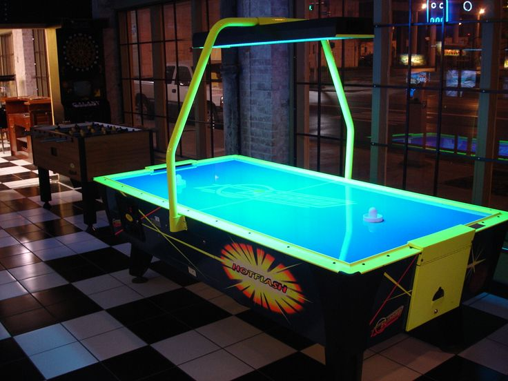 Glowing air hockey for the games room