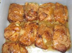 Pioneer Woman Apple Dumplings from Food.com:   It is so easy, it's illegal. ONLY 7 ingredients. ONLY 2 apples! If you want a lovely pictorial lesson in preparing these evil treats, then leave right now and go to her website. The woman is not only a wonderful cook, but an excellent photographer!