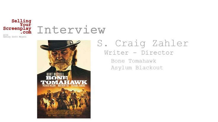 SYS Podcast Episode 106: Screenwriter S. Craig Zahler Talks About His Ne...
