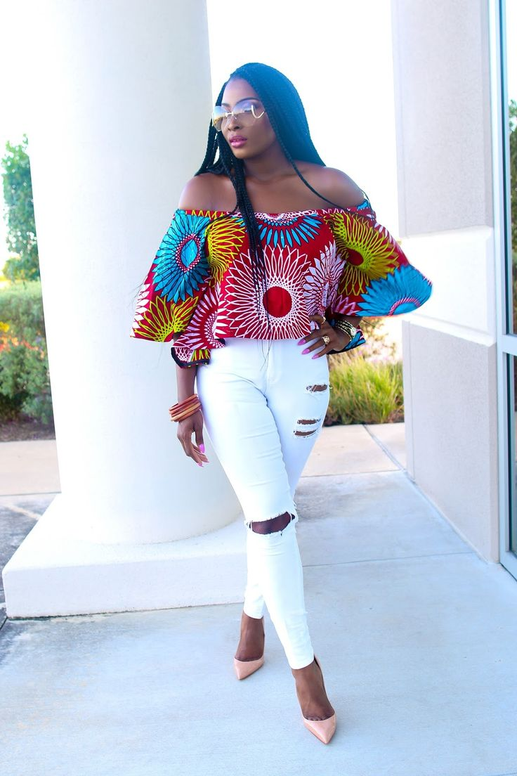Off Shoulder Crop Ankara | Irony of Ashi