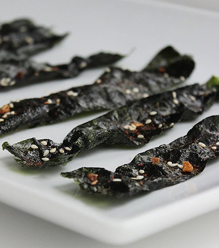 Craving the crunch of potato chips but on a Paleo diet? Welcome these seaweed chips to your snack-time rotation. They're cholesterol-free and high in vitamin A, and seven of these spicy seaweed chips are only 42 calories. Photo: Lizzie Fuhr