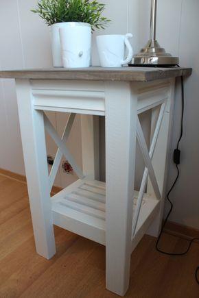 Lindevegen: Oppskrift på konsollbord og nattbord.