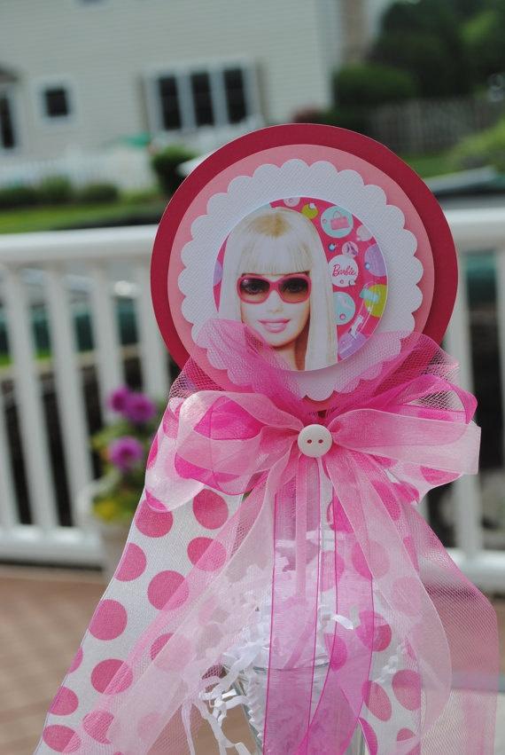 Barbie birthday party centerpiece
