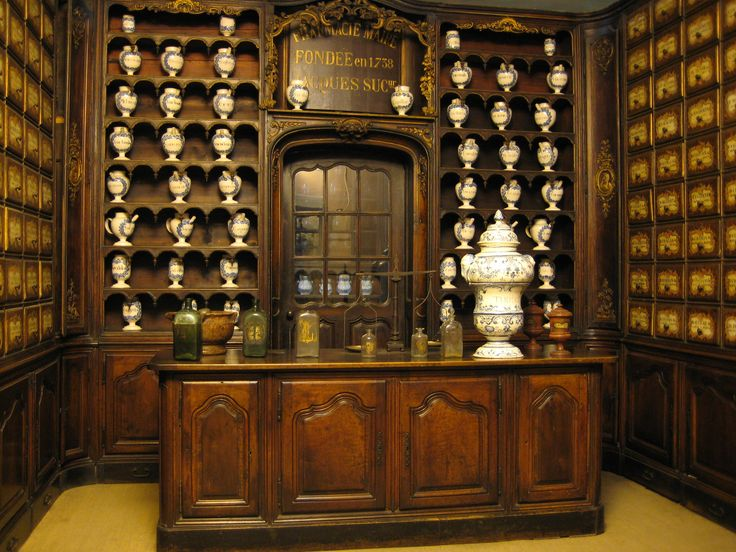 Аптека во дворце Ласкари.  Франция, Прованс, Ницца. Palais Lascaris. France, Provence, Nice.
