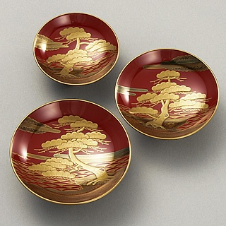 Japanese lacquered bowls
