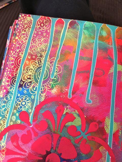 Sandra Kaye: Art Journal Peeks