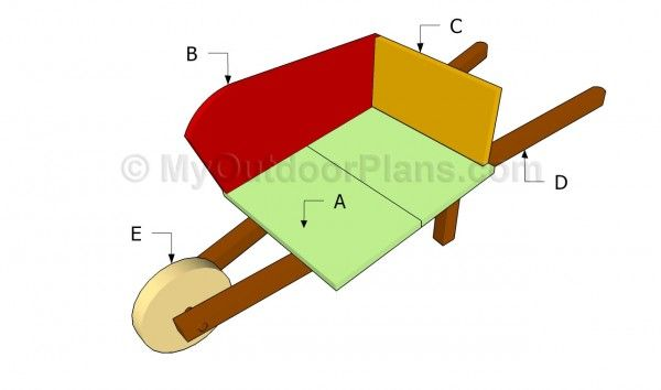 Wooden Wheelbarrow Plans | Free Outdoor Plans - DIY Shed ...