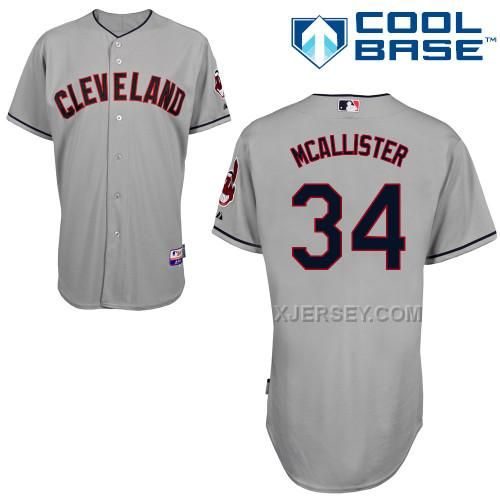 http://www.xjersey.com/indians-34-mcallister-grey-cool-base-jerseys.html INDIANS 34 MCALLISTER GREY COOL BASE JERSEYS Only $43.00 , Free Shipping!