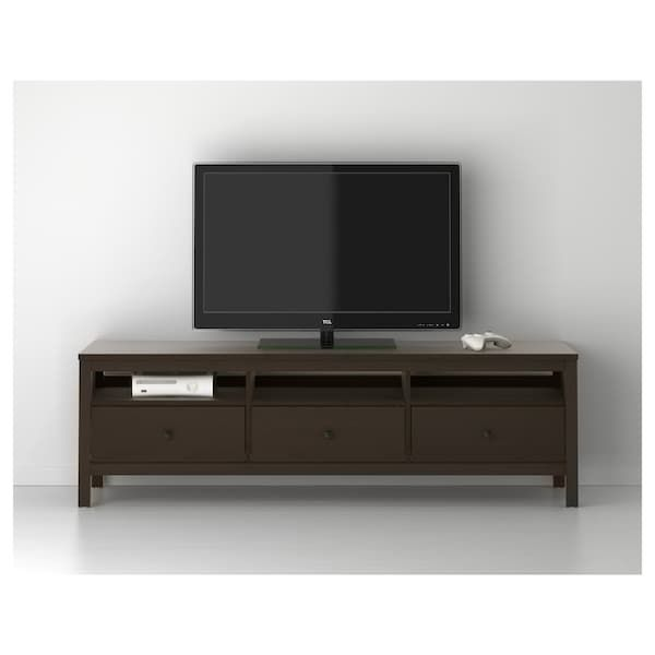 Ikea Hemnes Black Brown Tv Unit Meuble Tv Ikea Et Mobilier De Salon