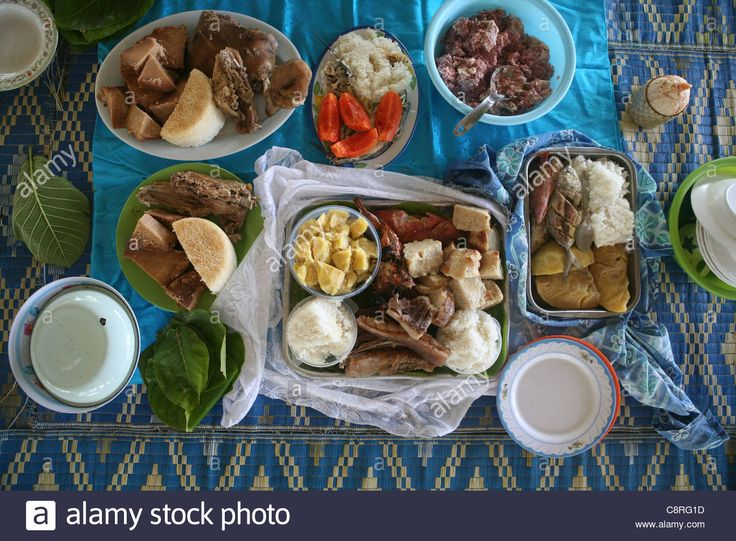 Fish Meal On Tuvalu, Island In The Pacific Stock Photo, Royalty Free Image: 39855465 - Alamy