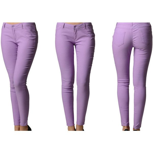 Womens Junior Skinny Fit Ladies Pants (19 AUD) ❤ liked on Polyvore featuring pants, purple, white skinny pants, skinny pants, white trousers, denim skinny jeans and skinny leg jeans