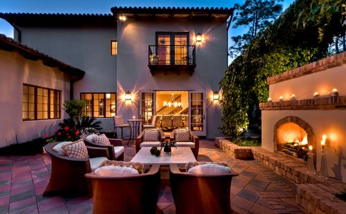 96 best spanish styles homes images on pinterest spanish for Spanish outdoor fireplace