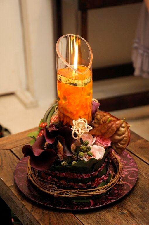 Flower Arrangement With water candle