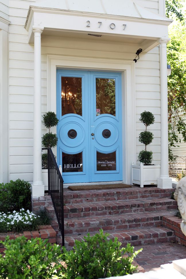 ::: Baby Blue, The Doors, Entry Doors, Blue Doors, Grand Entrance, Awesome Front, Front Doors Color, Color Doors, Blue Prints
