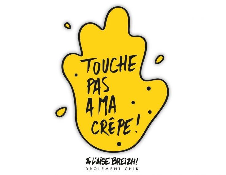 """C'est au tour d'""""A l'Aise Breizh"""" de réagir aux propos de Gilbert Collard, député du Gard. Pour lui,    crêpier est un """"faux métier""""   . C'est par le biais d'un logo """"Touche pas à ma crêpe"""" que la marque bretonne a flambé sur les réseaux sociaux !"""