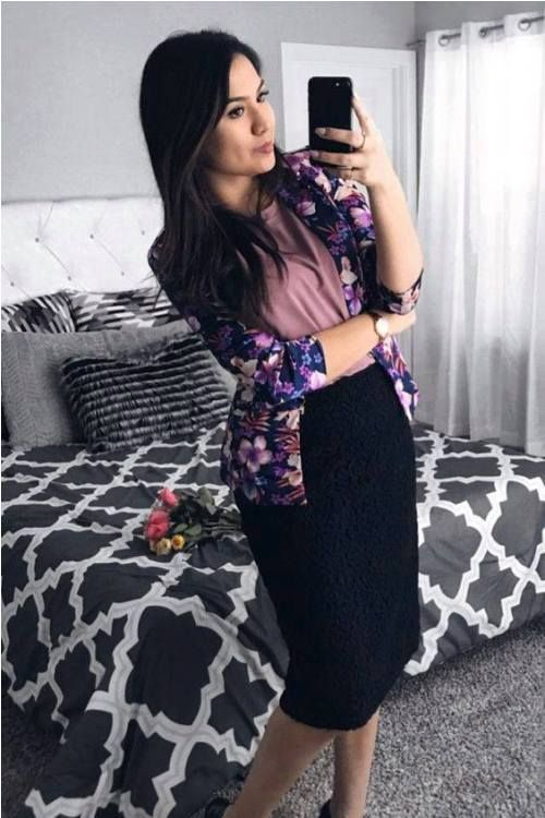4b5188f593c8c Pencil skirt with floral blazer-Rocking street style summer outfits – Just  Trendy Girls