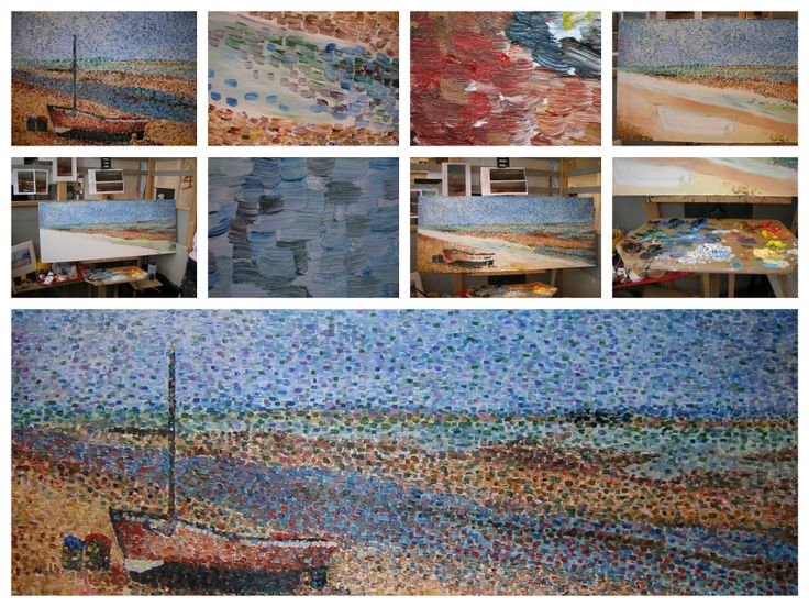 Pointillist painting of Dungeoness