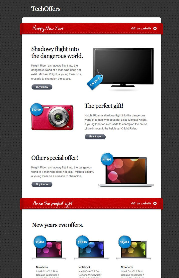 85 best html email images on pinterest email newsletter design tech offers html newsletter by themefuse spiritdancerdesigns Image collections