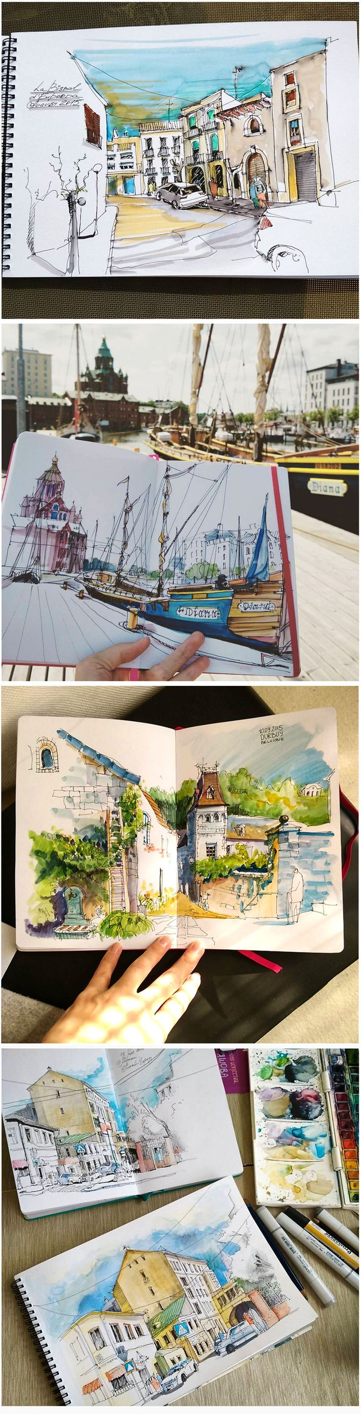 Alena Kudriashova – Sketch travel  journal