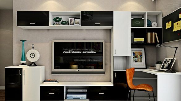 Furniture Computer Desk Tv Stand Combo Living Interior Tv Cabinet With Jpg 1124 751 Xreno Of Computer Desk Tv S Desk Tv Stand Small Living Room Furniture Home