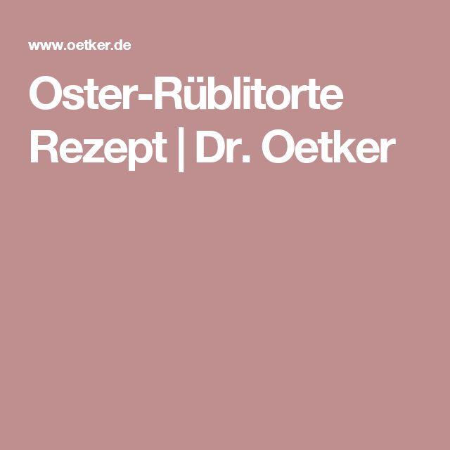 Oster-Rüblitorte Rezept | Dr. Oetker