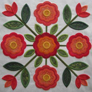 97 best Applique: Rose of Sharon images on Pinterest | Quilt block ... : rose of sharon quilt - Adamdwight.com