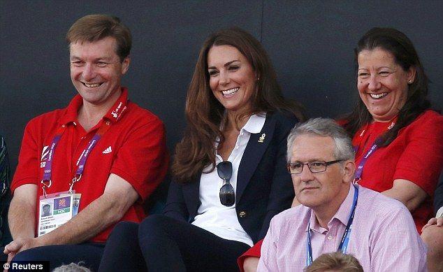Kate wore her Smythe Blazer and white Team GB polo shirt.8/8/12